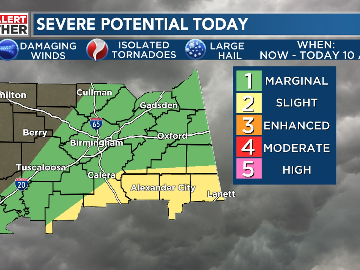 FIRST ALERT: Strong to severe thunderstorms possible Saturday morning