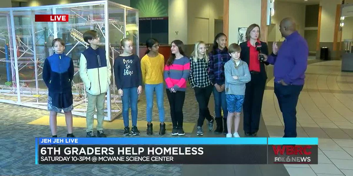 Jeh Jeh Live: 6th graders help the homeless
