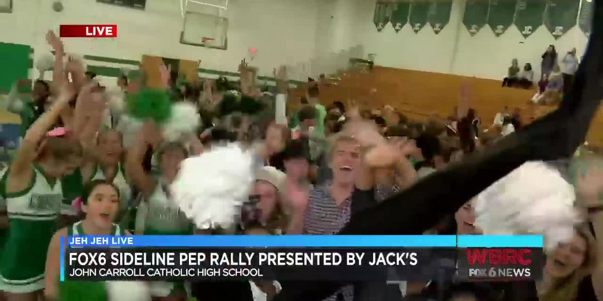 Jeh Jeh Live WBRC FOX6 Sideline Pep Rally: John Carroll Catholic High School