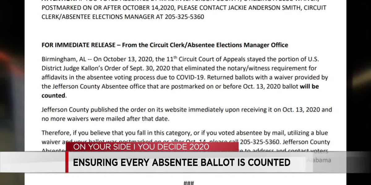 Options for absentee voters whose ballots may not be counted due to court ruling