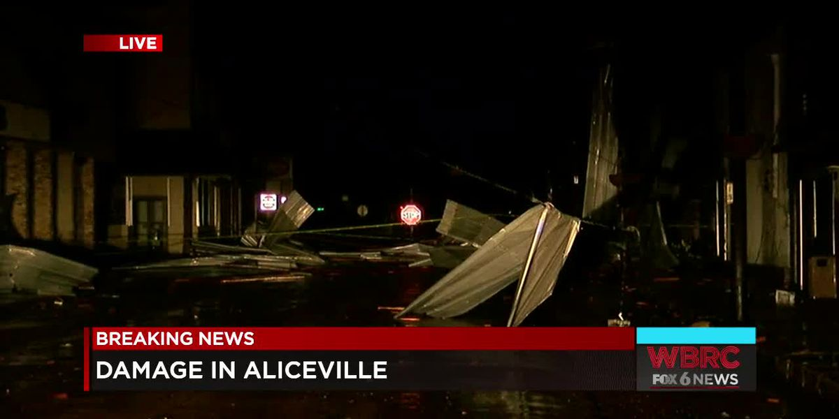 Damage in Aliceville