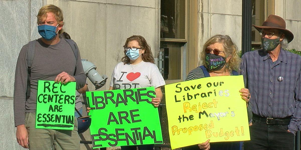Birmingham Public Library employees protest furloughs
