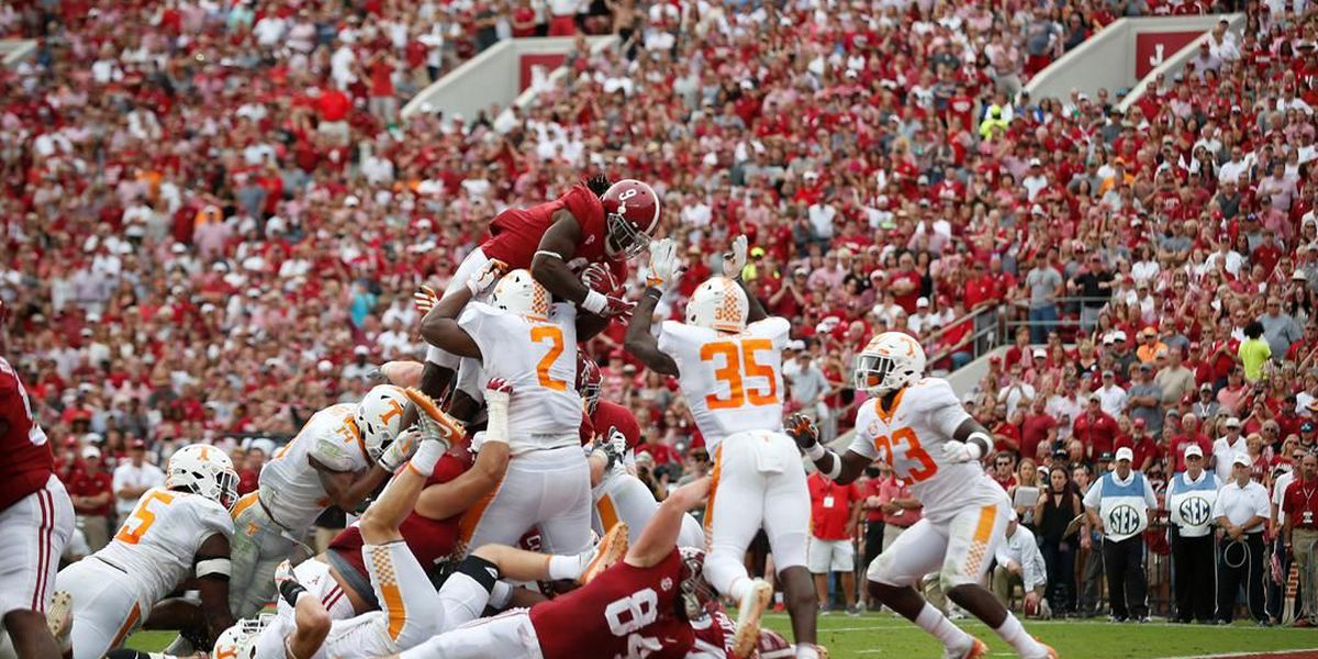 No. 1 Bama wins 11th straight over rival Tennessee