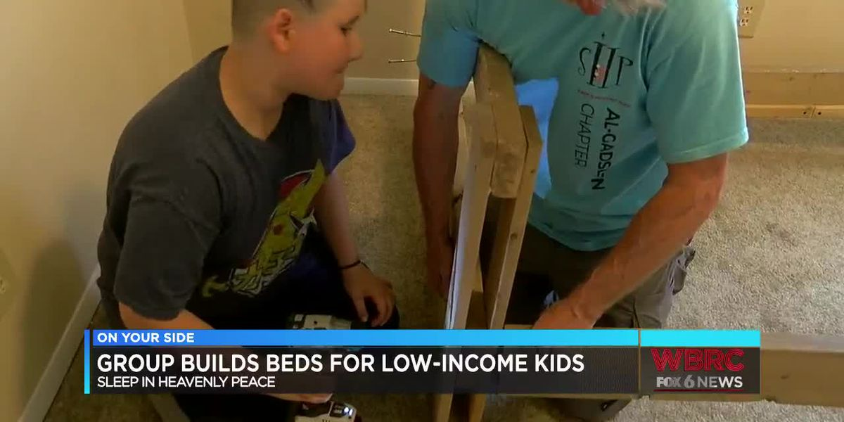 Couple builds beds for children