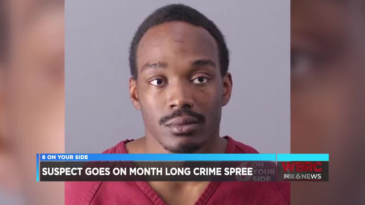 Suspect goes on month-long crime spree