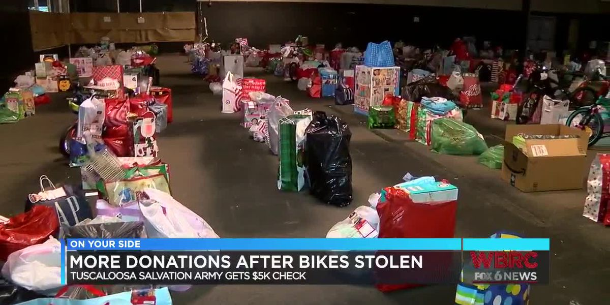 More donations after bikes stolen at Salvation Army
