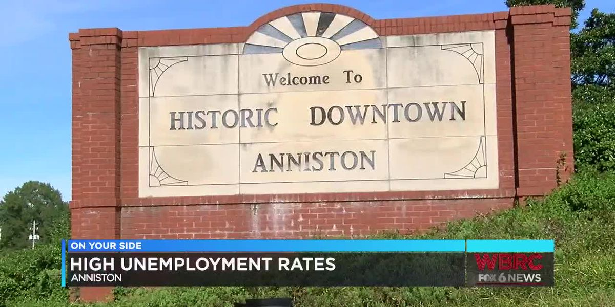 High unemployment rates in Anniston