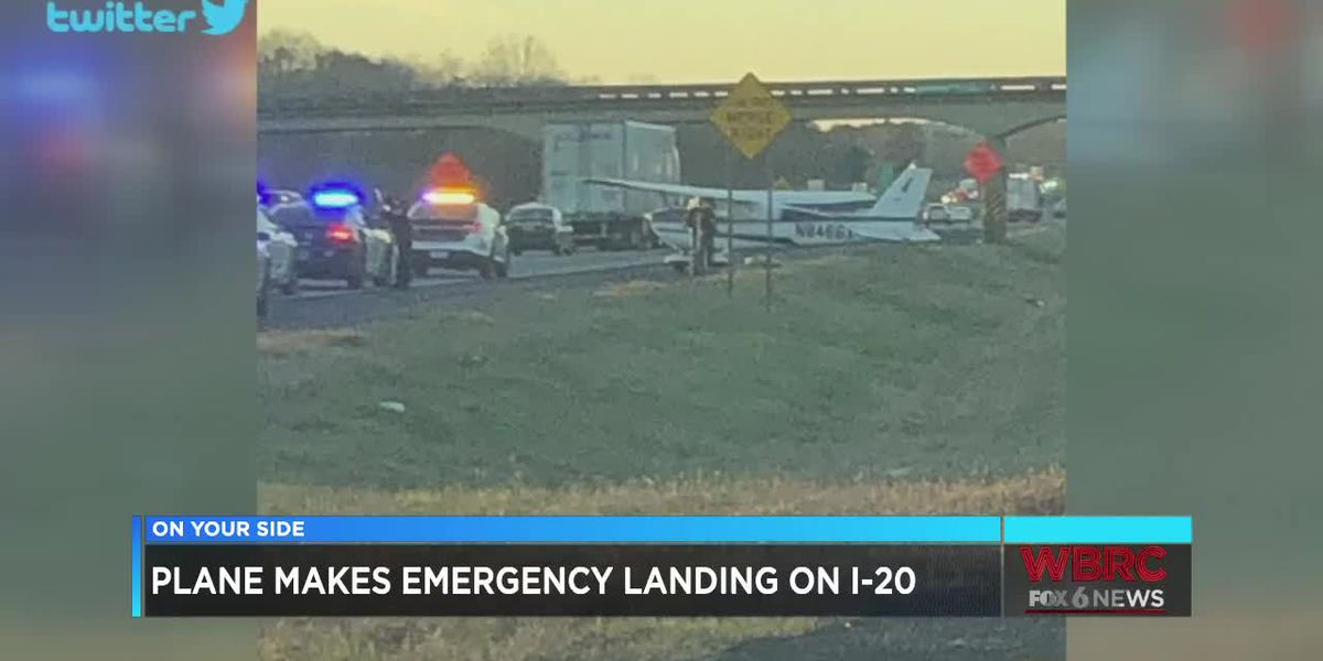 Plane makes emergency landing on 1-20