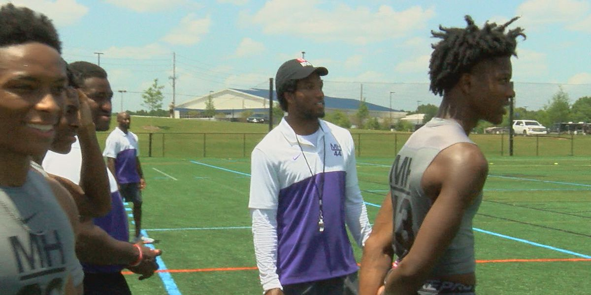 NFL Cornerback Marlon Humphrey holds Elite Football Camp