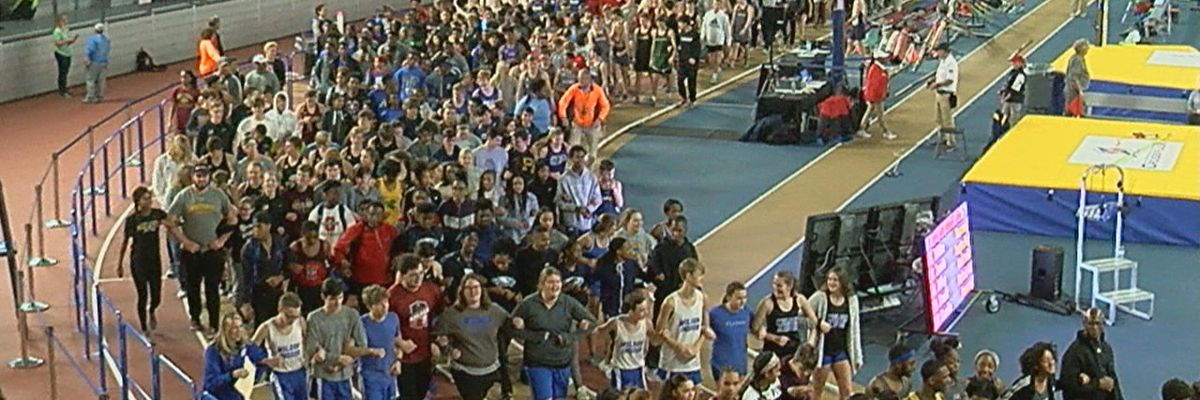 High school track athletes march in unity to honor Dr. King