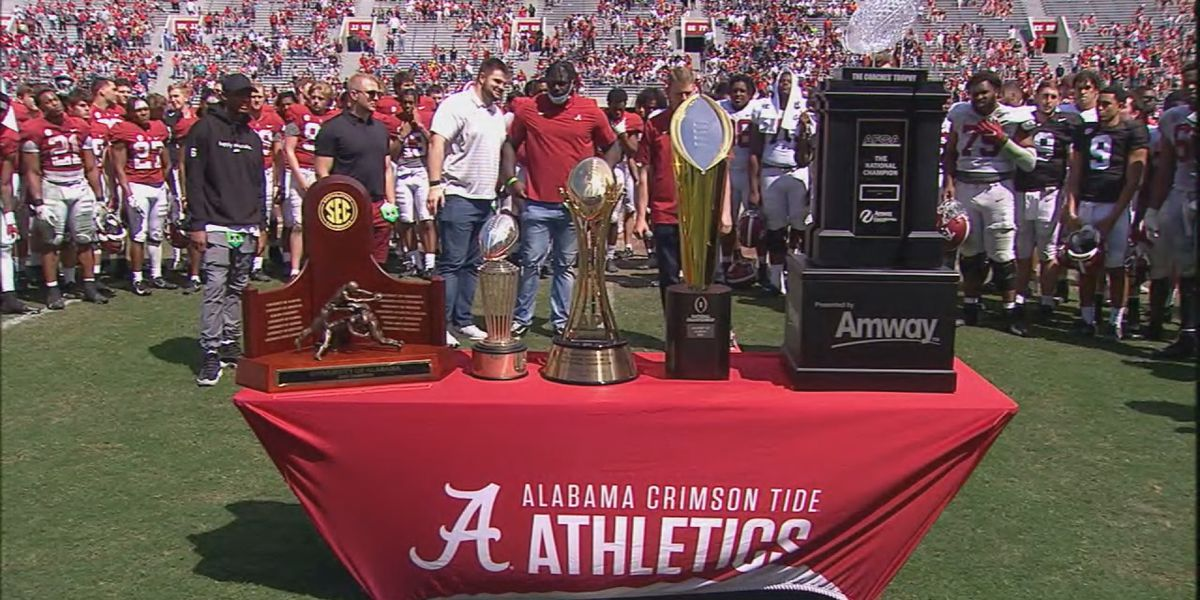 Alabama celebrates 2020 National Championship team after