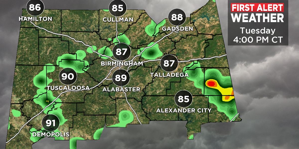 FIRST ALERT: Additional showers and storms expected Tuesday
