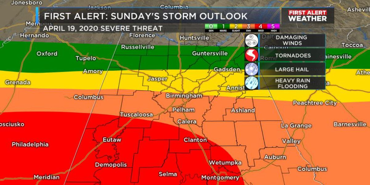 FIRST ALERT WEATHER DAY Sunday