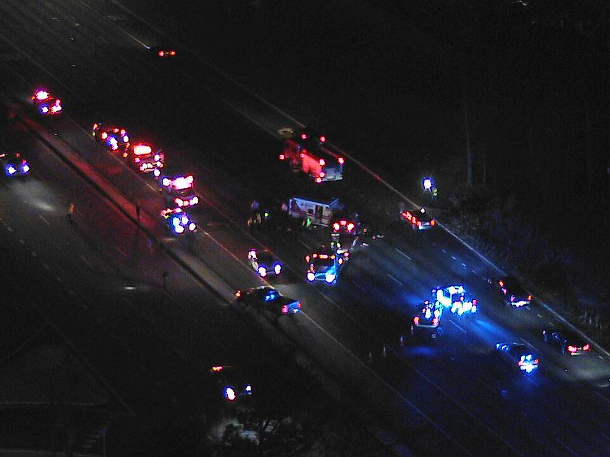 Multiple lanes of US 280 westbound blocked after crash near Grandview