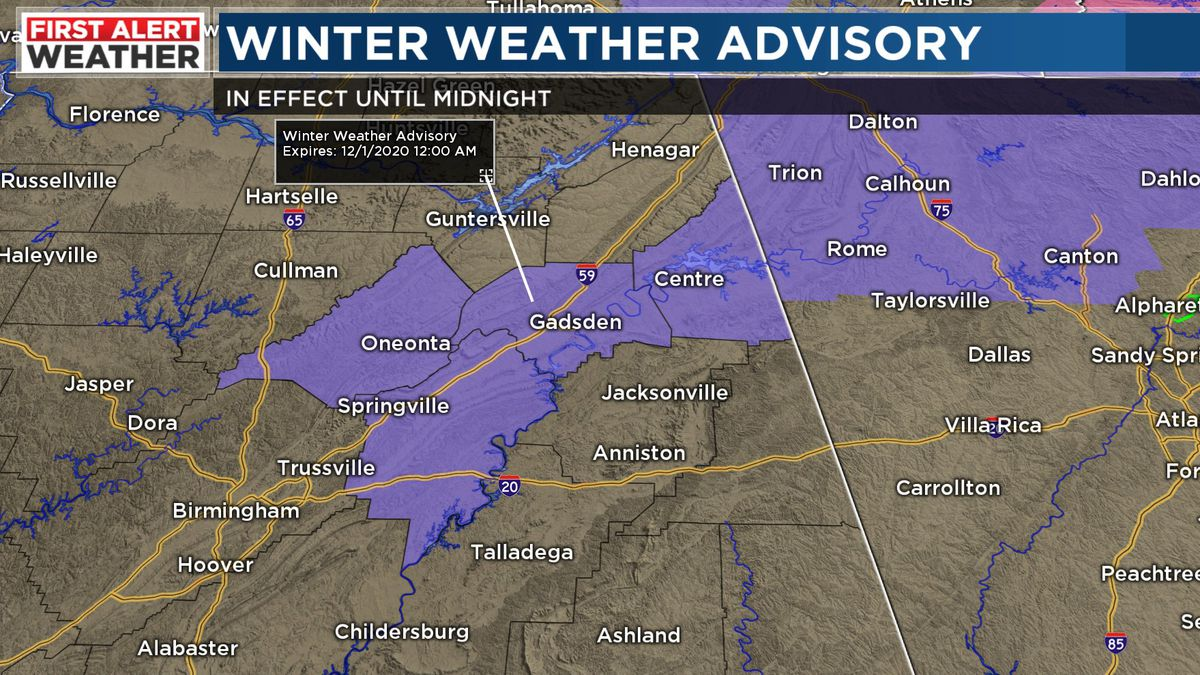 FIRST ALERT: Rare snow for Alabama in November could create some slick spots northeast
