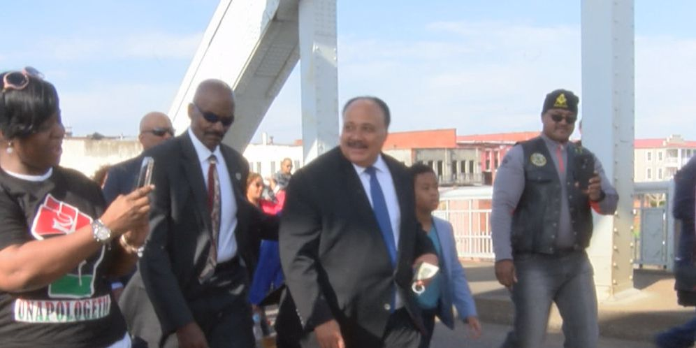 "Presidential candidates join ""Bloody Sunday"" anniversary march across Edmund Pettus Bridge"