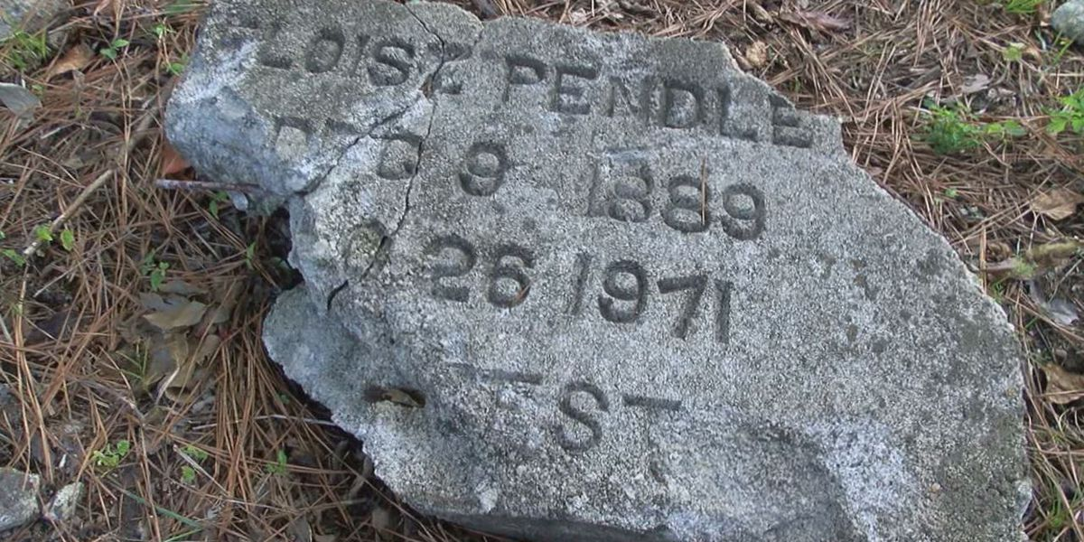 Woman finds possible headstones in vacant lot next to family's home