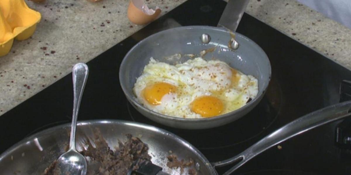 Huevos Rancheros Taco & Refried Black Beans