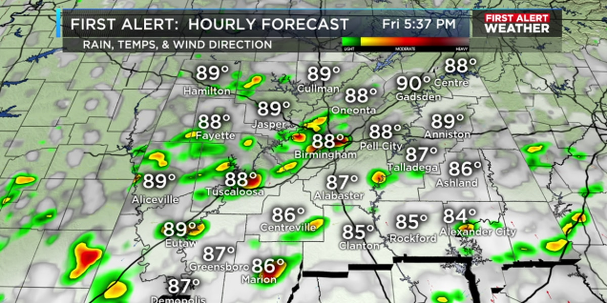 FIRST ALERT: Tracking a few heat-activated showers & storms
