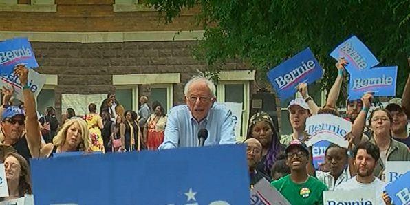 Bernie Sanders speaks in Birmingham
