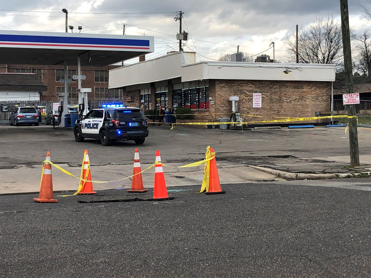 Woman injured in domestic-related shooting at B'ham gas station