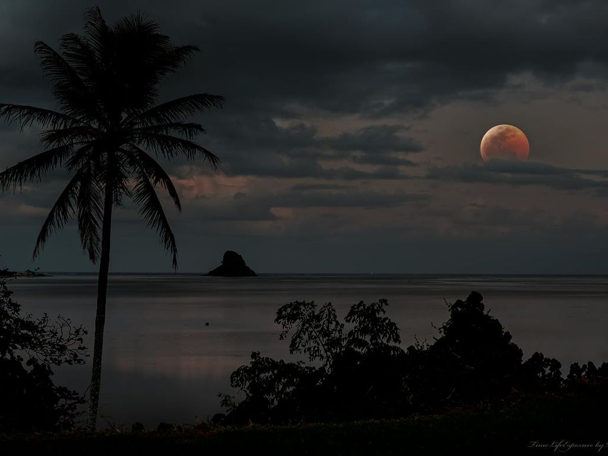 PHOTOS: Hawaii catches a glimpse of the super blood wolf moon
