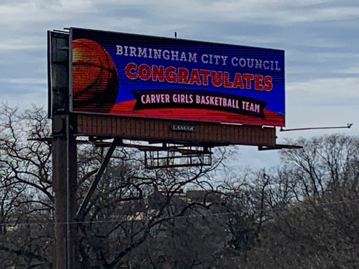 Carver's Lady Rams honored with billboards
