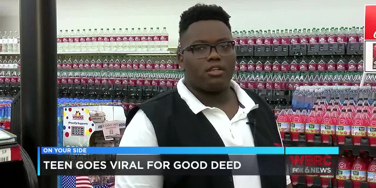 Teen goes viral for good deed