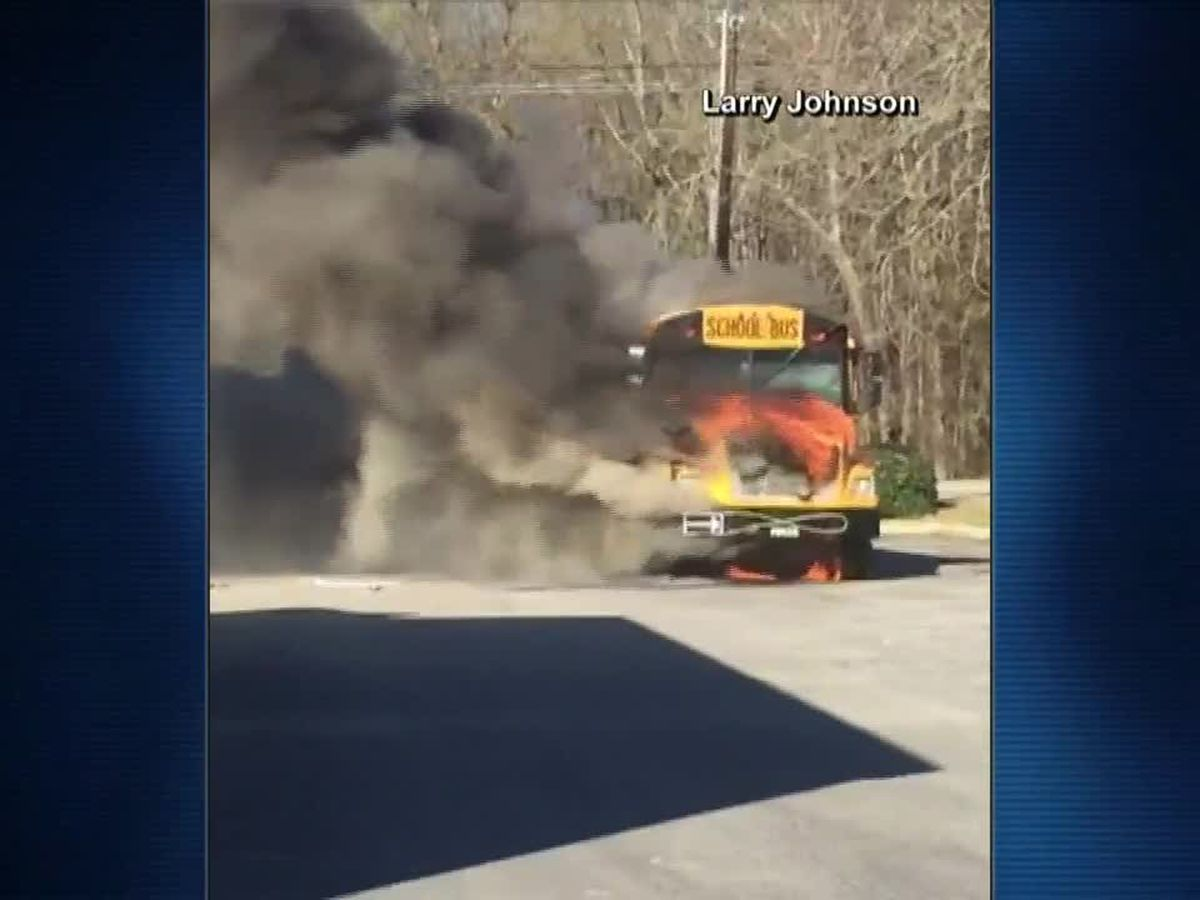 School bus carrying 40 SC students catches fire during field trip; no one injured