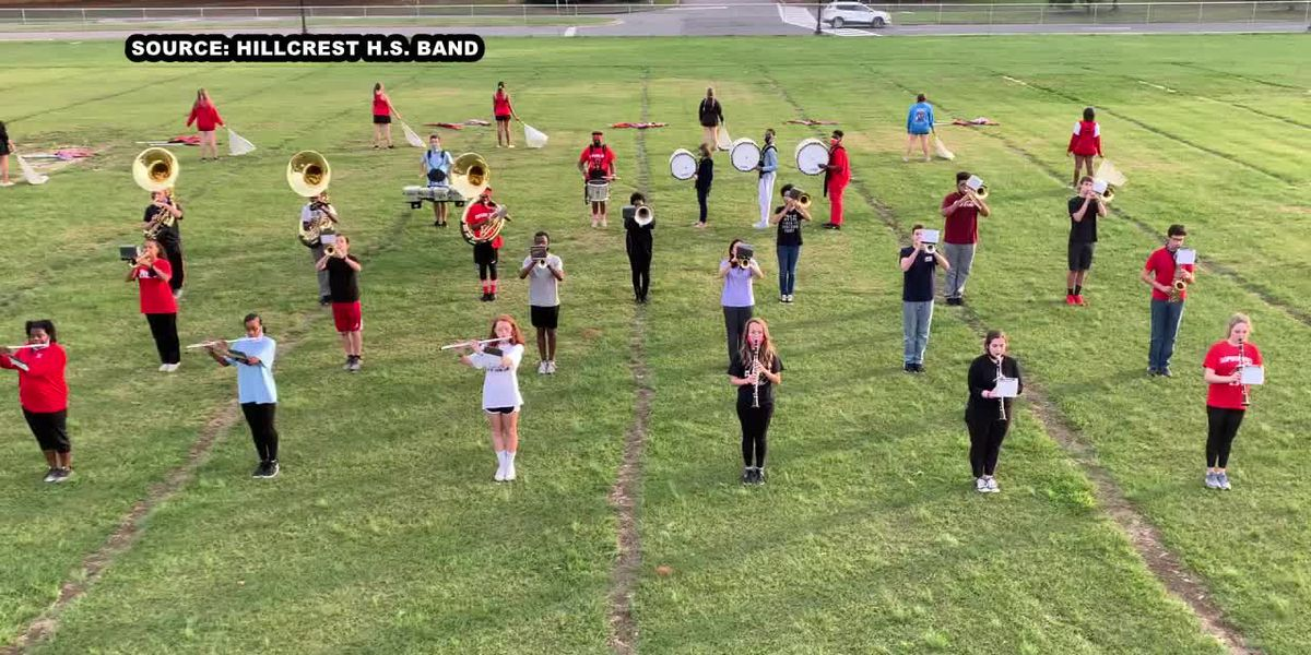 Friday night lights are the perfect time to entertain for the Hillcrest H.S. marching band