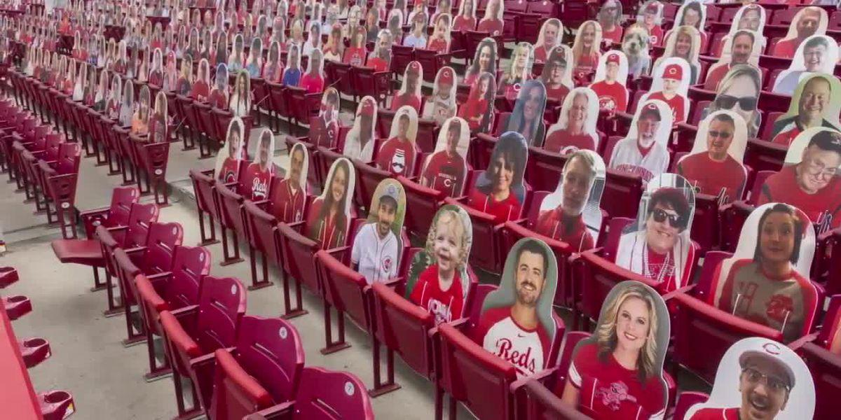 Man announces sister-in-law's pregnancy through Sonogram cutout at Great American Ballpark