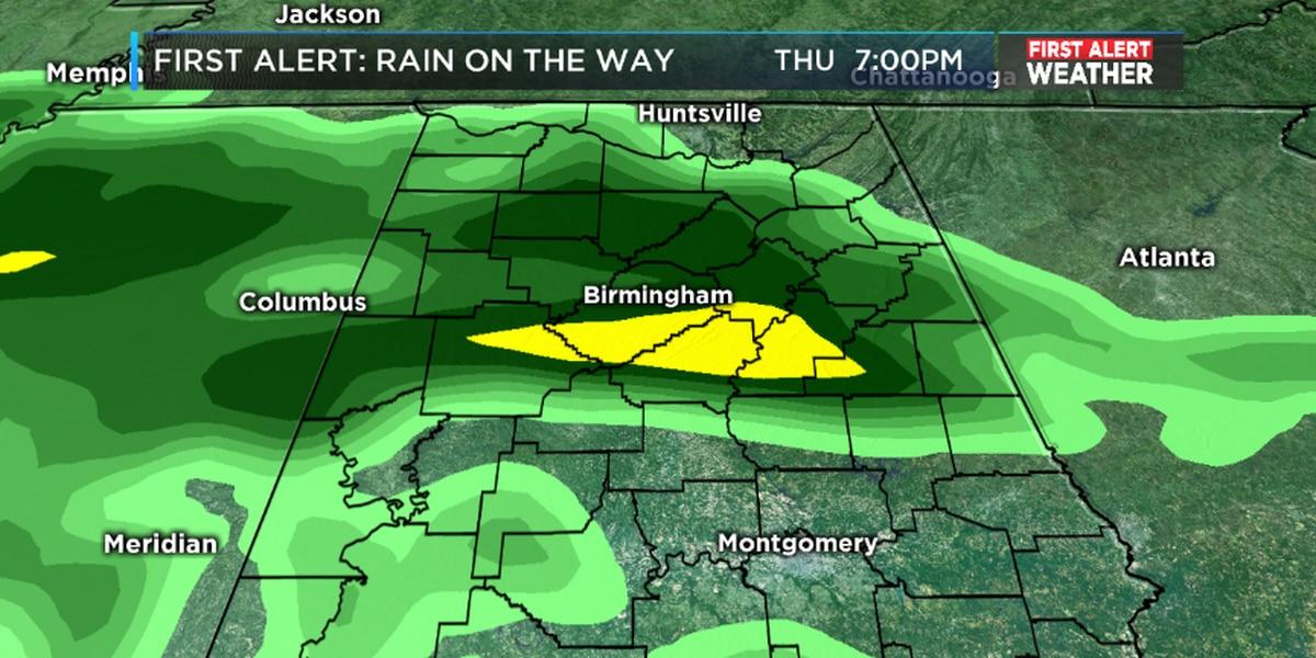 FIRST ALERT: Rain returns by Thursday
