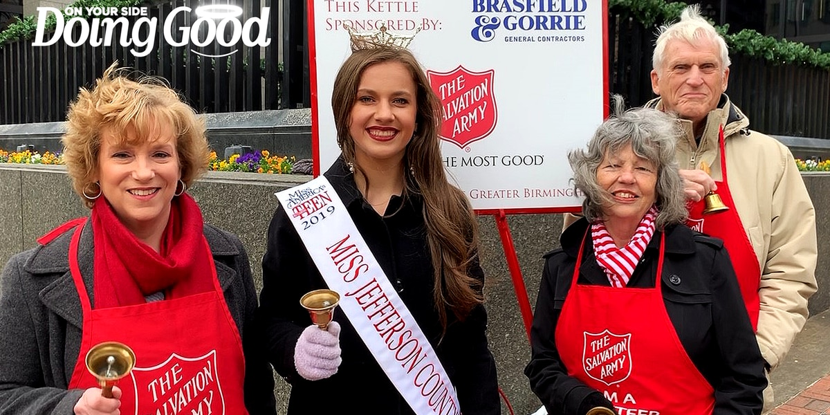 "Birmingham Optimists ""Doing Good"" as Salvation Army Bellringers"