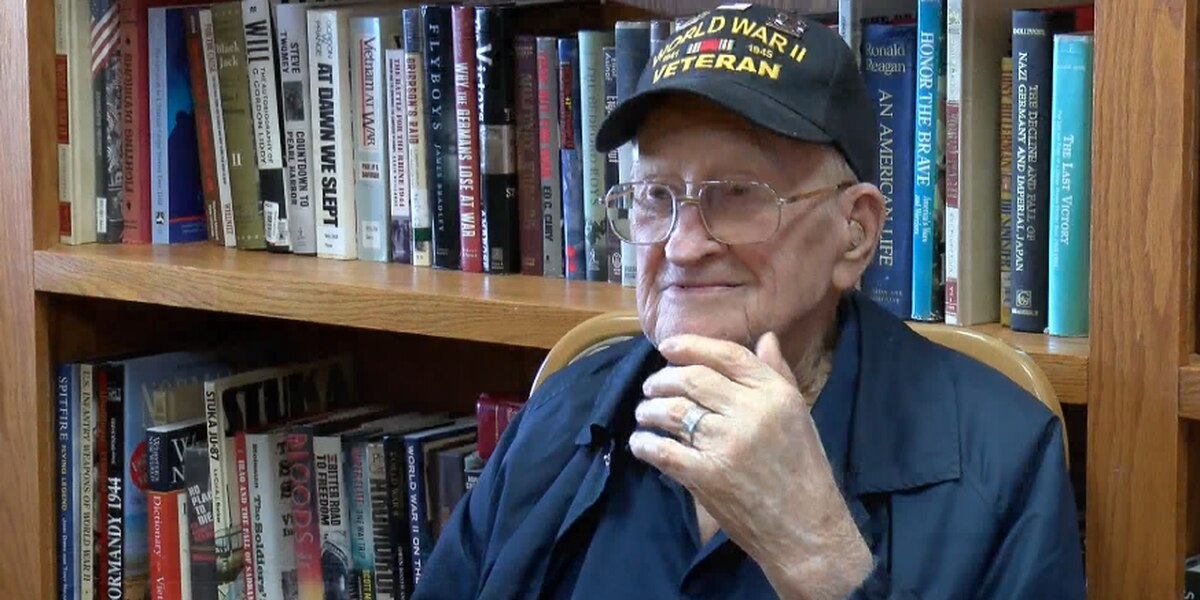 102-year-old veteran looks back on his service in WWII