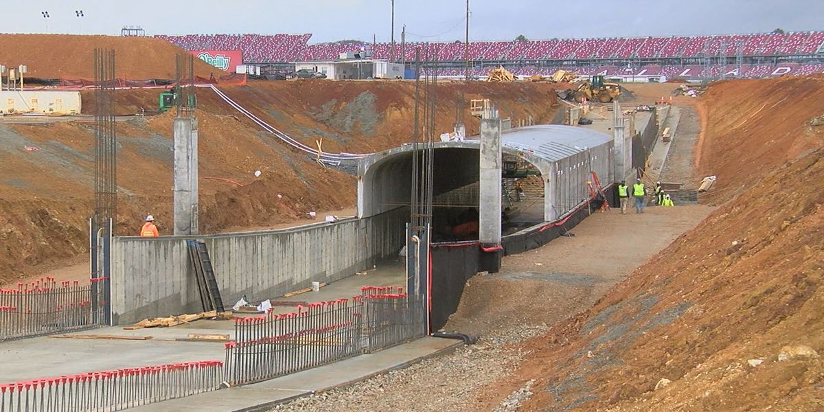 Construction of new tunnel at Talladega Superspeedway on schedule