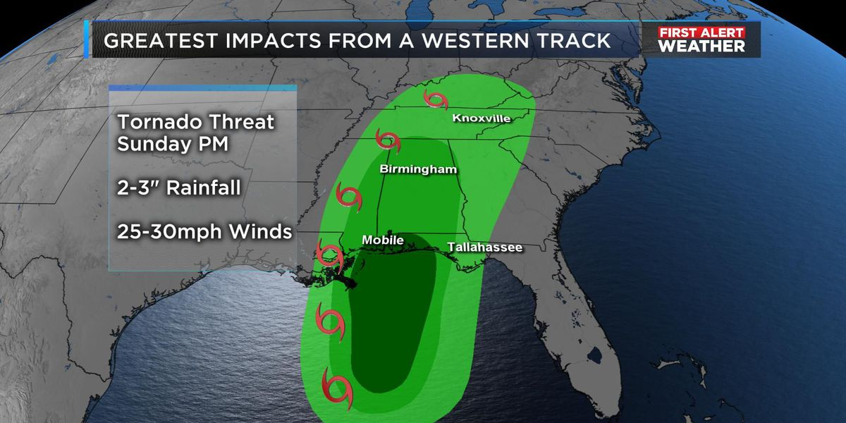 FIRST ALERT: Tropical Storm Watch issued for Alabama Gulf Coast