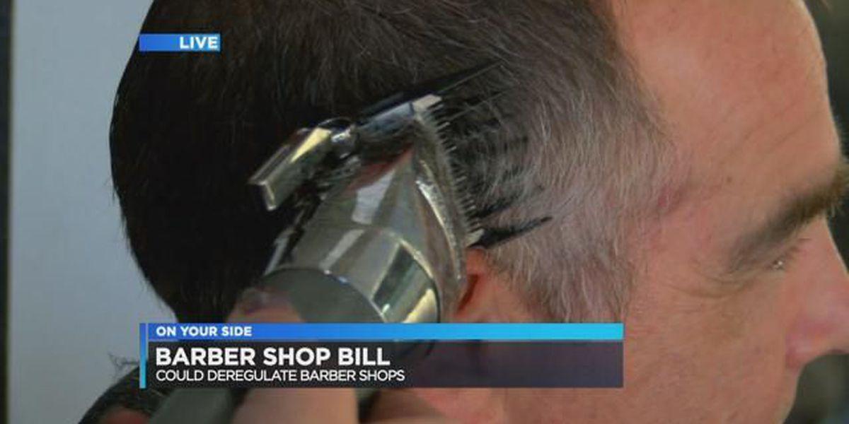 Bill could cut regulations for barber shops