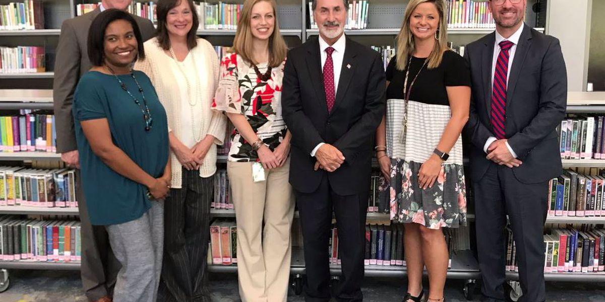 Congressman Palmer visits Pelham Park Middle for National Principals Month