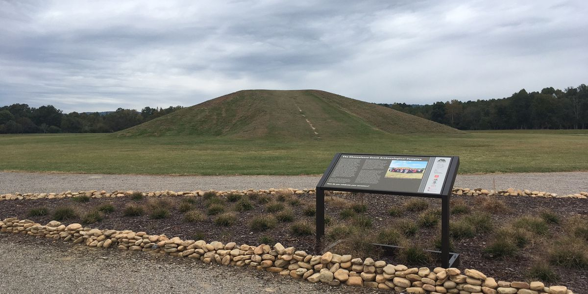Mounds at Choccolocco Park in Oxford dedicated as part of the state's mound trail