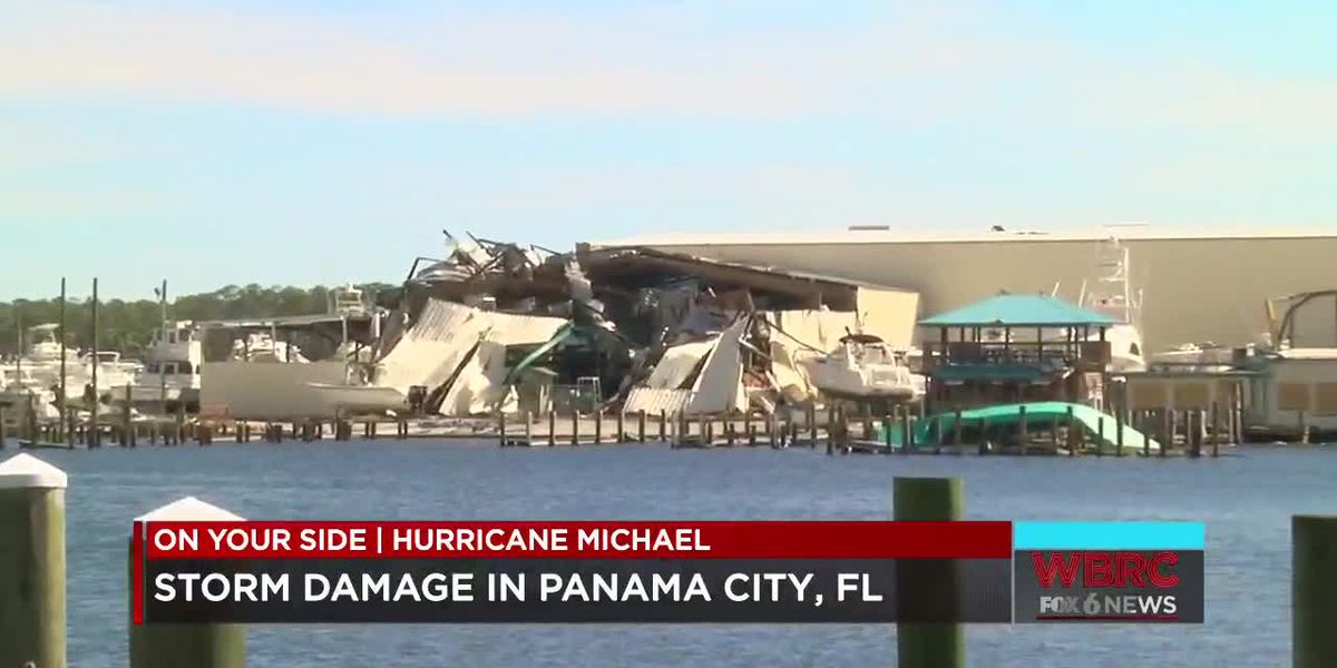 Storm damage in Panama City, FL