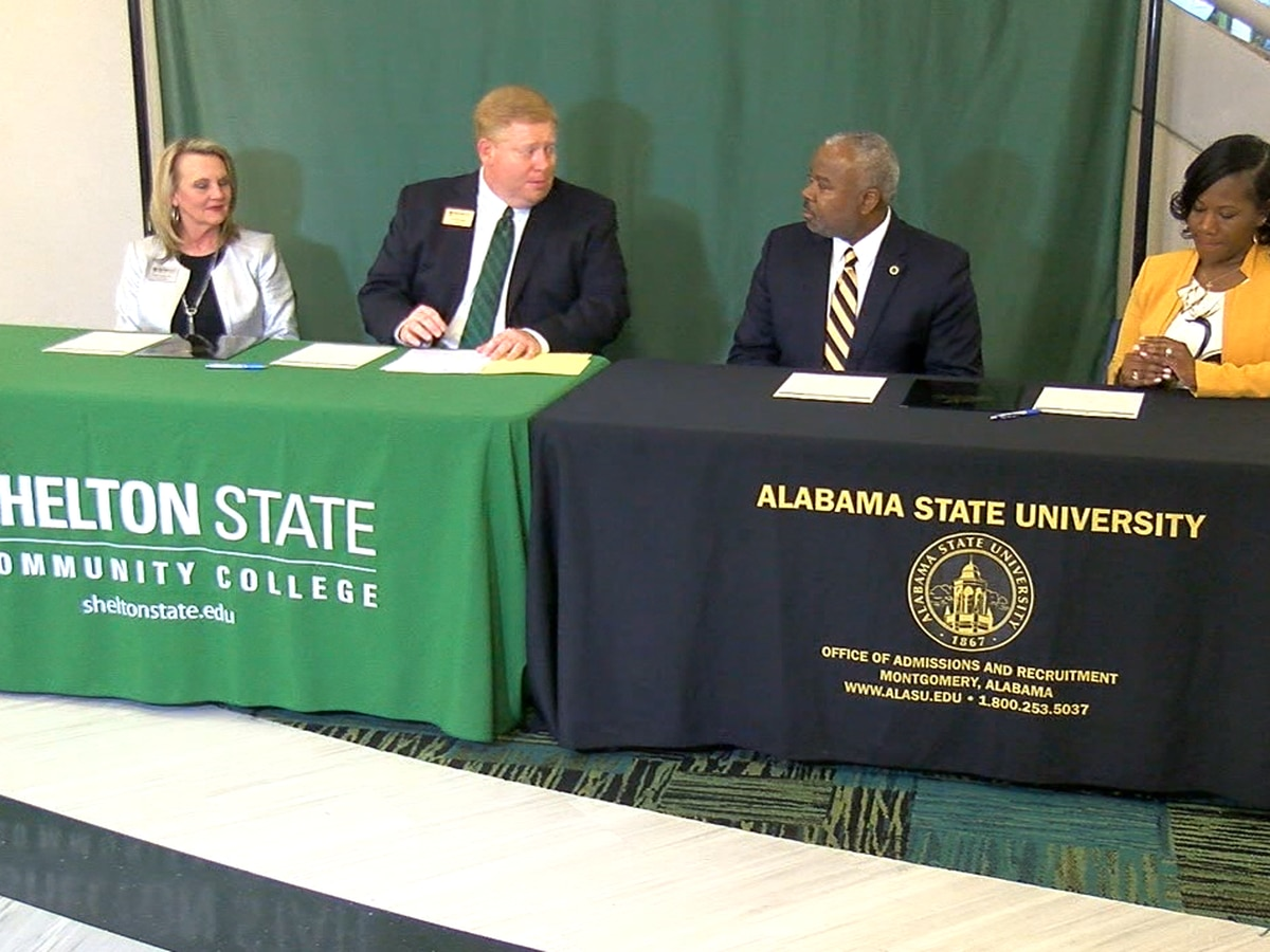 Shelton State Community College and Alabama State University enter into agreement