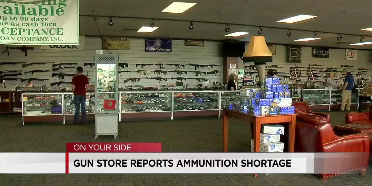 Local gun shops experiencing an increase in customers and shortage in ammunition