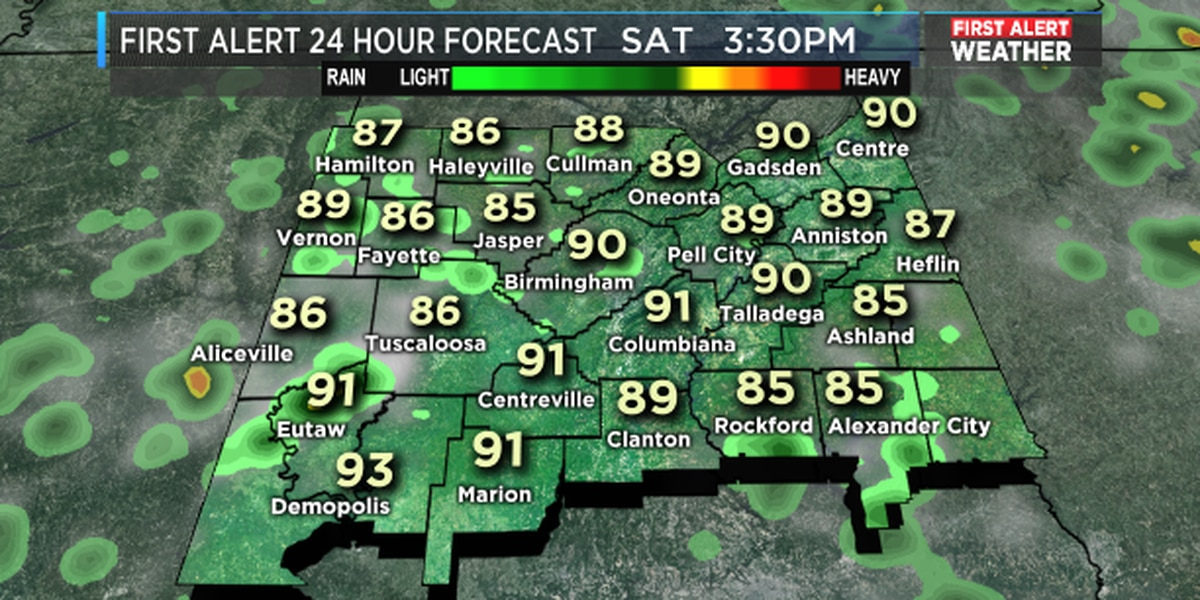Fred: A warm, humid Saturday morning