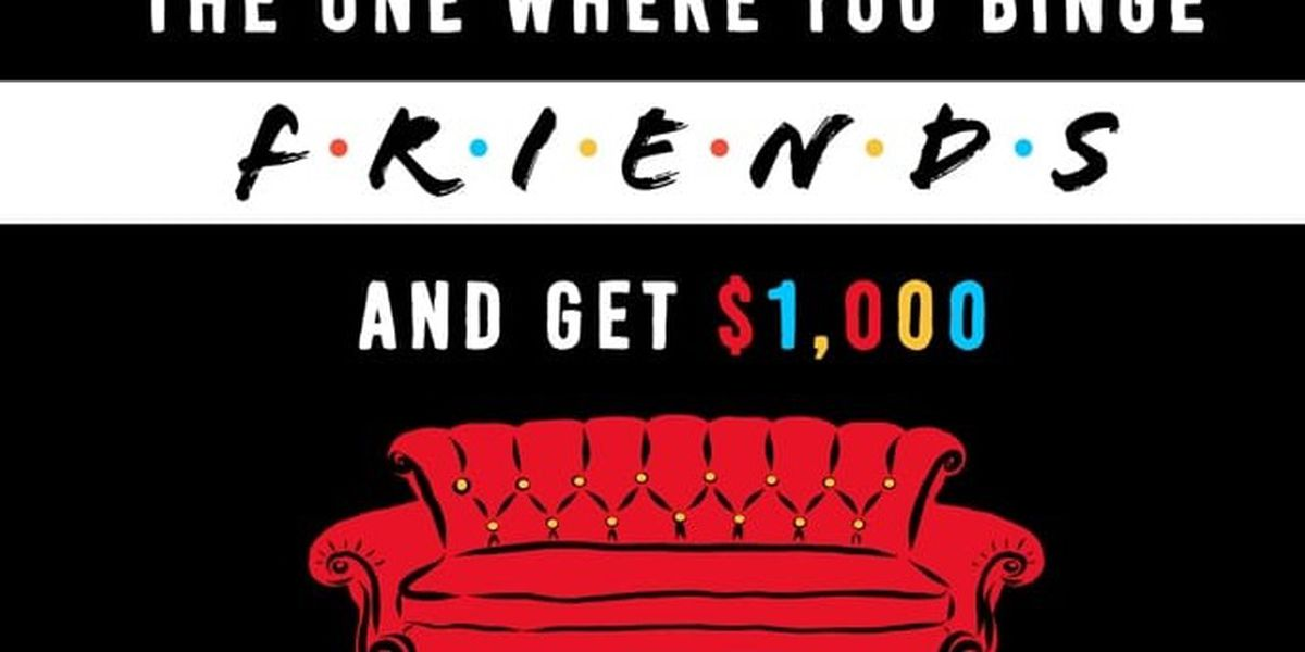 Company seeks 'Friends' super fan to watch 25 hours of classic sitcom for $1,000