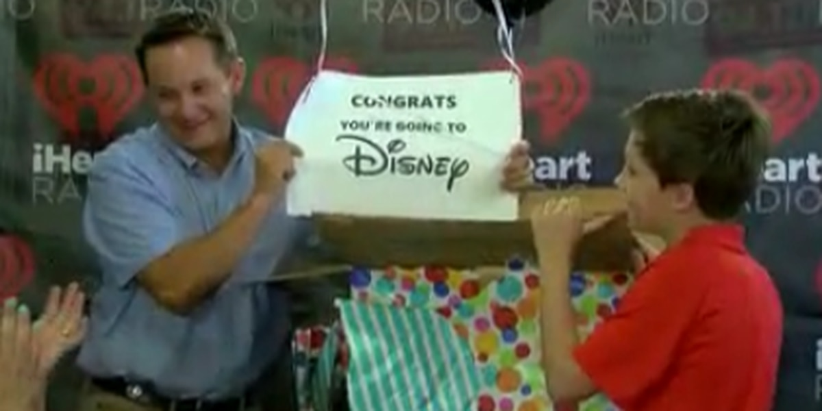 Tuscaloosa boy battling cancer wins surprise Disney trip