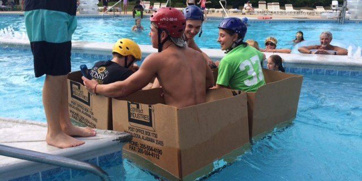 Students build cardboard boats at Univ. of Alabama engineering camp