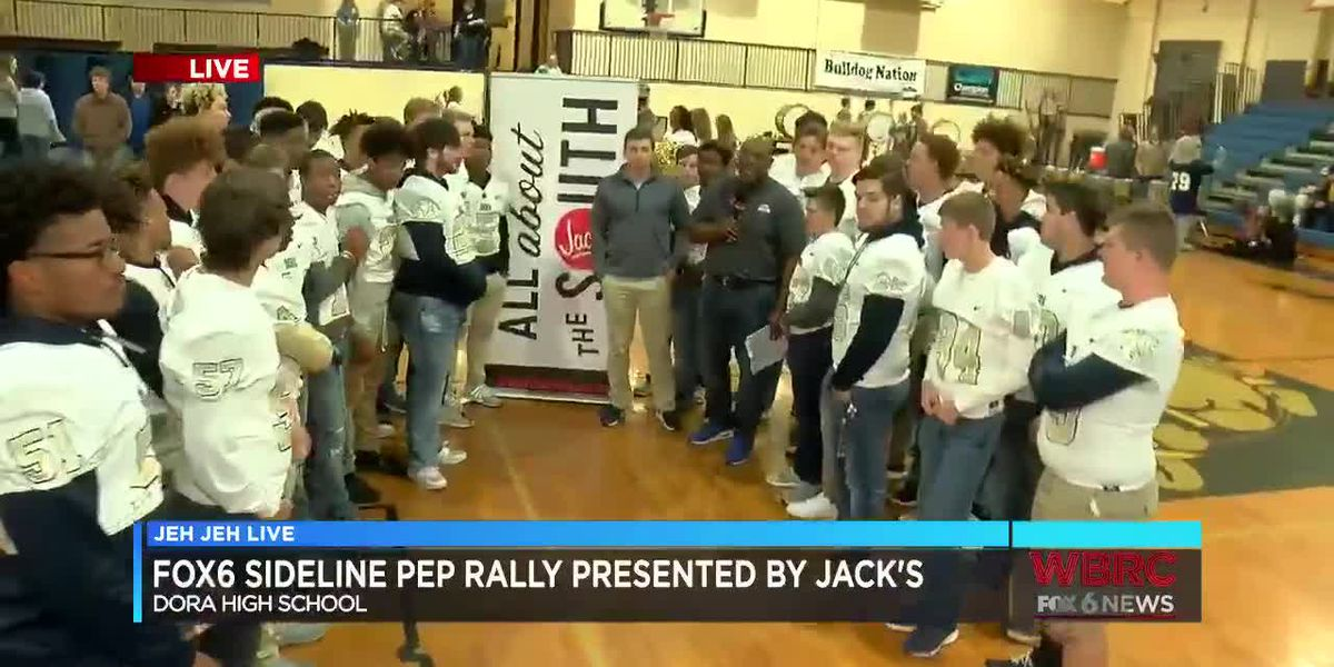 Jeh Jeh Live WBRC FOX6 News Sideline Pep Rally: Dora High School (Part 1)