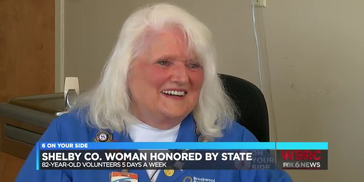 82-year-old woman honored by the state for her years of volunteer service