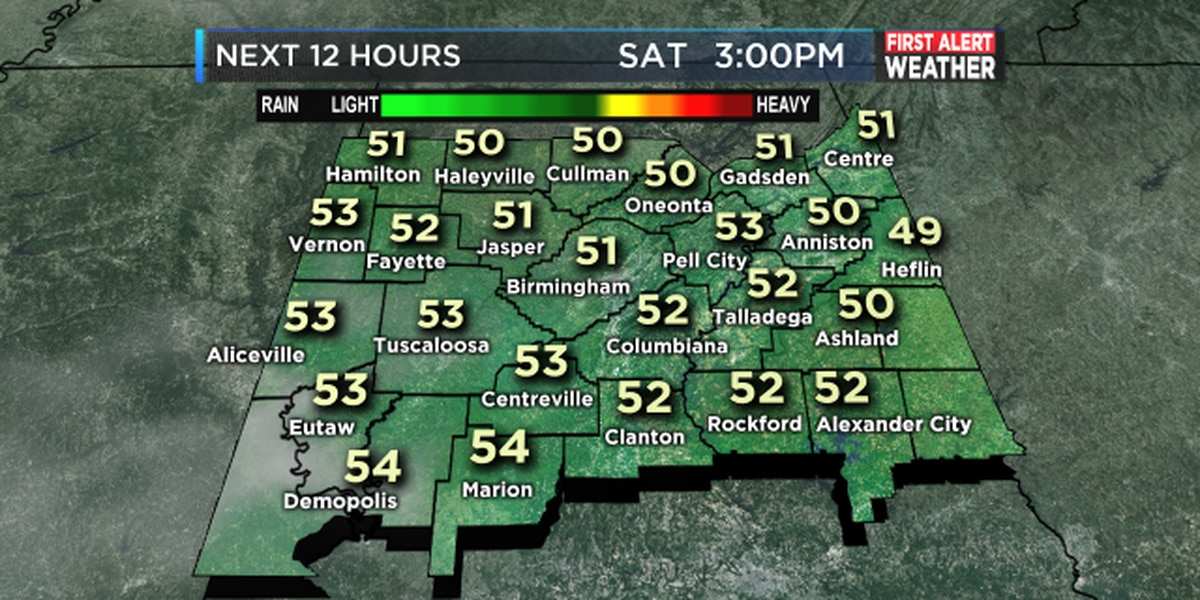 Fred: A chilly beginning but rain is on the way