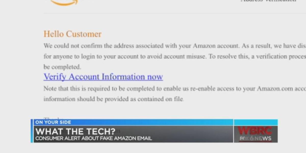 Beware fake Amazon email: What the Tech?
